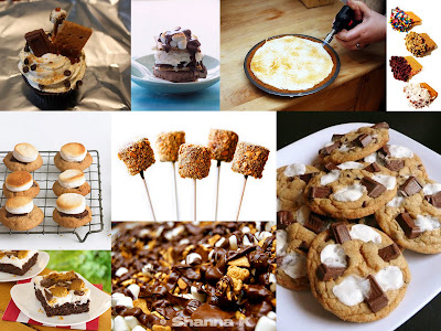 s'more treat collage