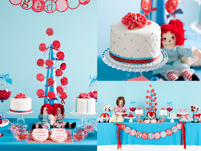 One Charming Party Raggedy Ann party