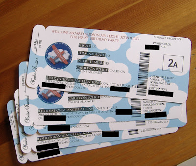 airplane boarding pass invite