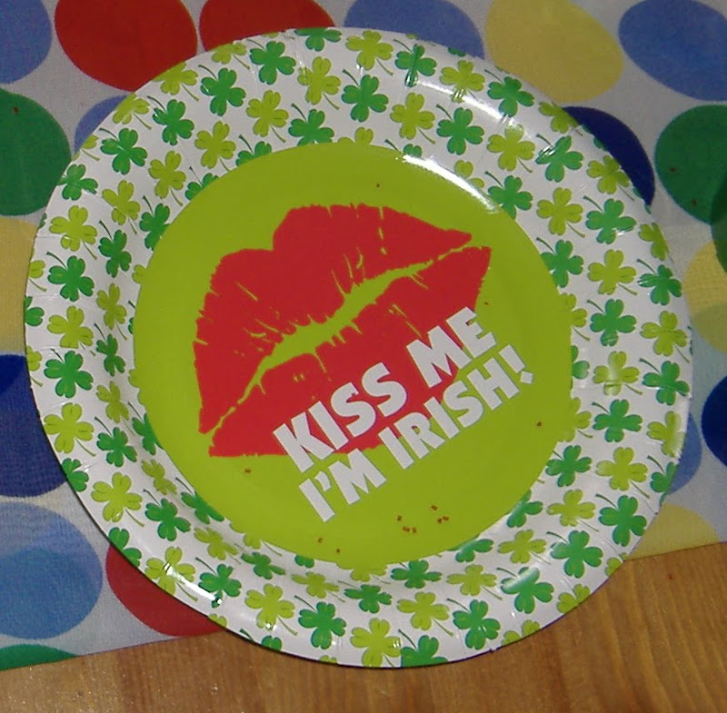Kiss Me I'm Irish plate
