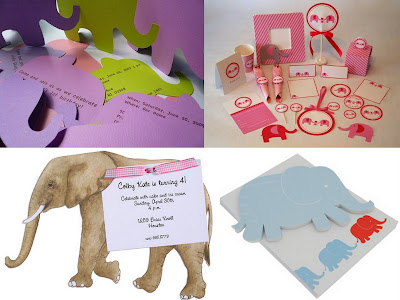 elephant party invite collage