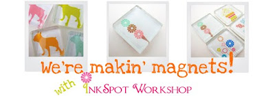 Inkspot Workshop glass magnet
