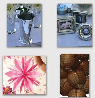 pink decor collage