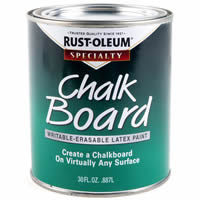 Rust-oleumchalkboard paint