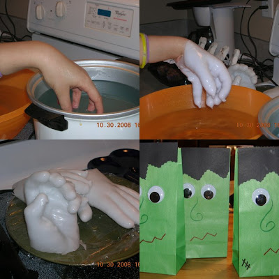Mad Scientist Party wax hands
