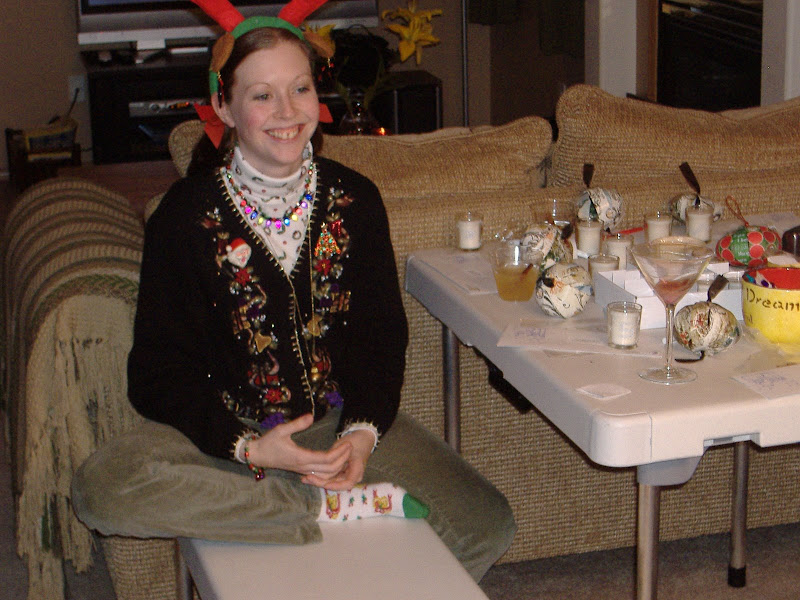 Ugly Sweater Party craft table