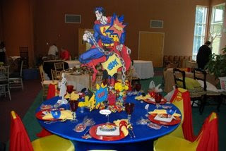 super hero table setting