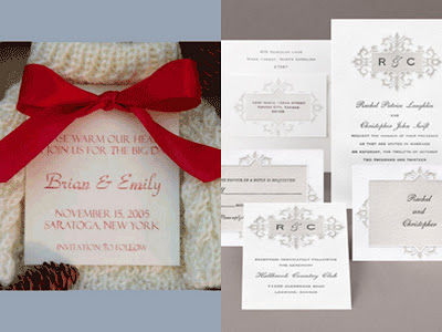 Winter wedding save the date/invite