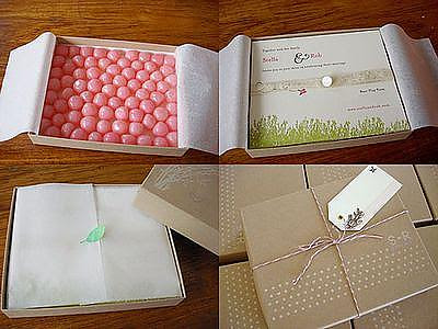 pink candy box invite