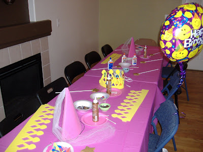 Tutus and Twirls craft table