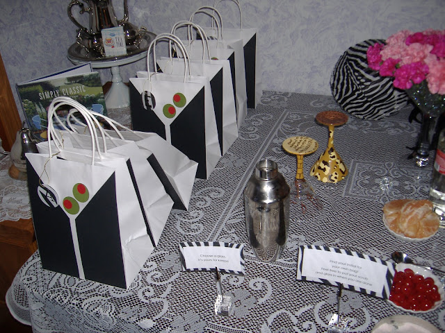 Mamas and Martinis gift bags