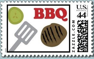 Demby and Solomon BBQ mail stamp