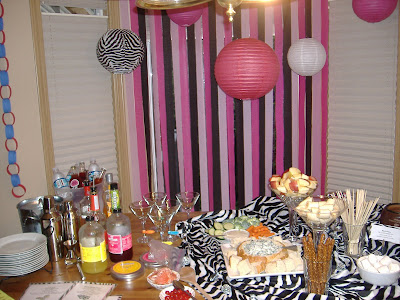 Martini party table
