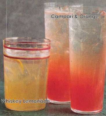 Whiskey Lemonade and Campari & Orange
