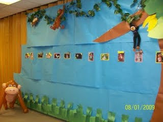 Little monkey party wall