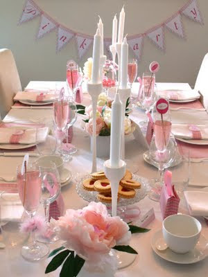 Paper & Cake Party Pink table