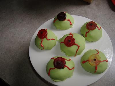 Monster Mash Bash eyeball cookies