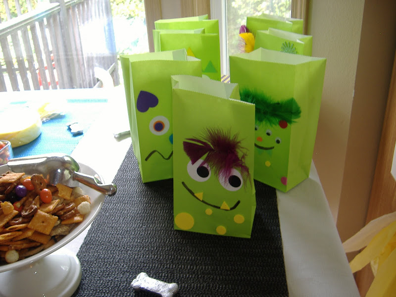 Monster Mash Bash party bags