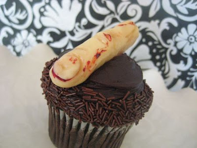 Halloween Sweet and Saucy cupcake