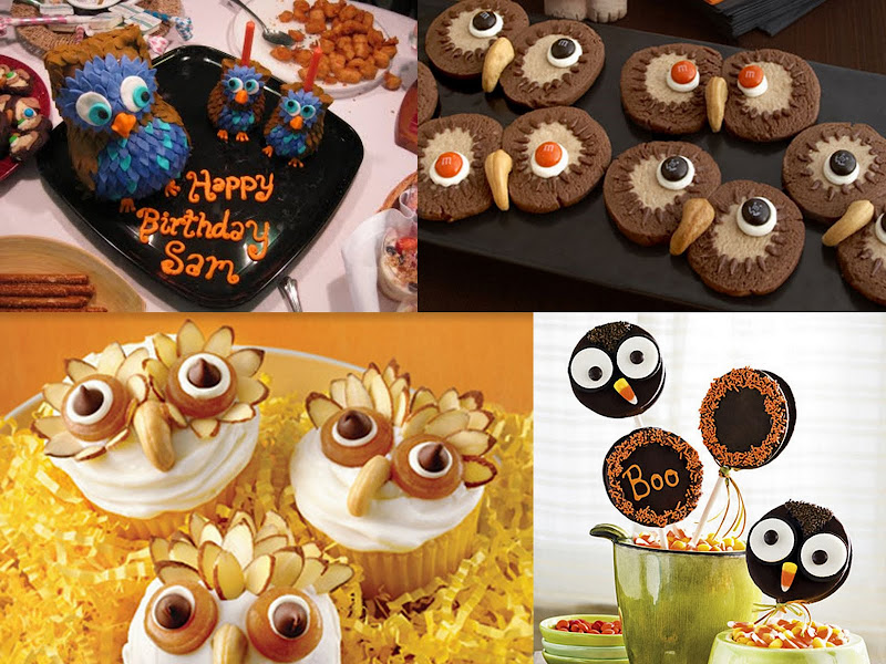 Owl Party Treat Collage