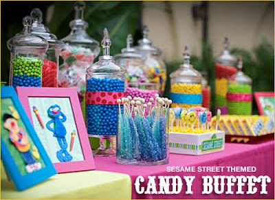 Hostess Sesame Street candy buffet