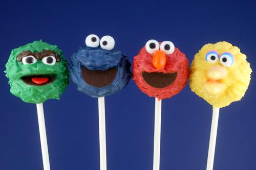 Bakerella Sesame Street pops