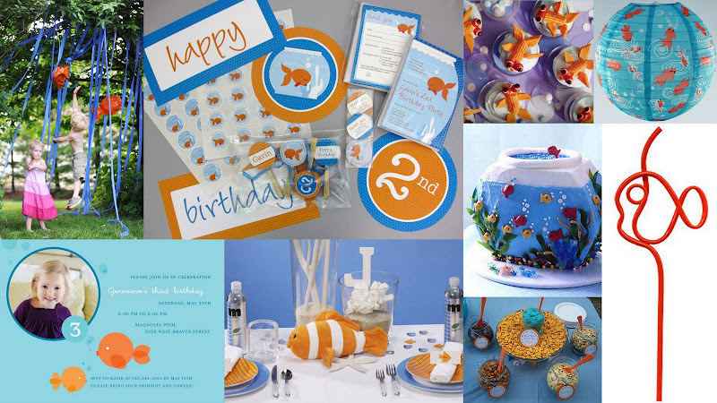 goldfish party collage