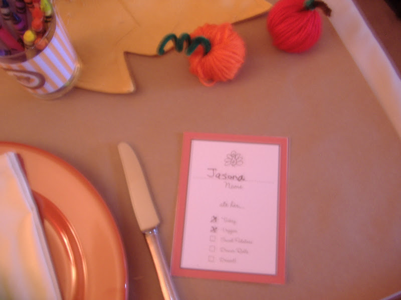DimplePrints Thanksgiving table