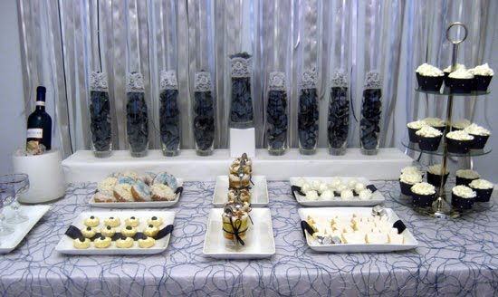 Hanukkah dessert table