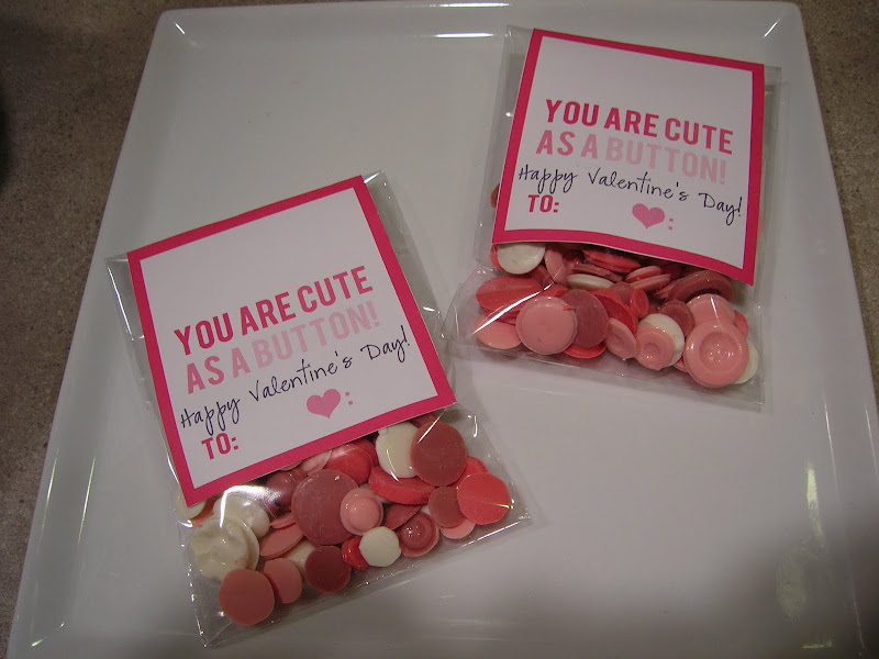 Cute As A Button Valentine&#39;s Day Treats