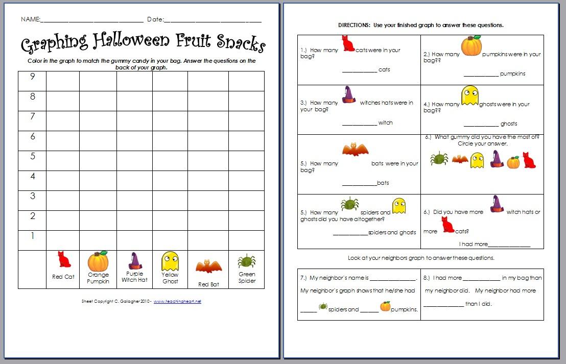 More Yummy Halloween Printable Activities. - Teaching Heart Blog ...