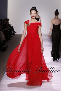 Songbird Source 8000 Monique Lhuillier Red Wedding Gown On A