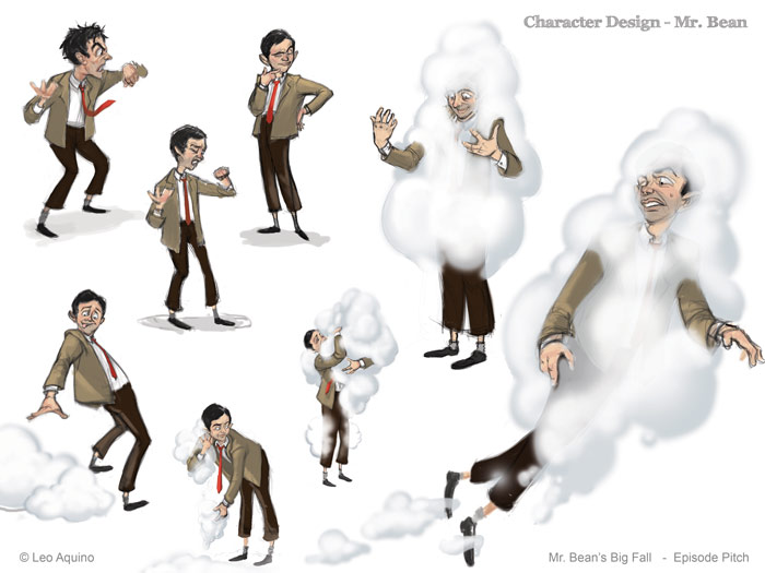 Character Design Layout : The art of leo aquino mr bean project complete