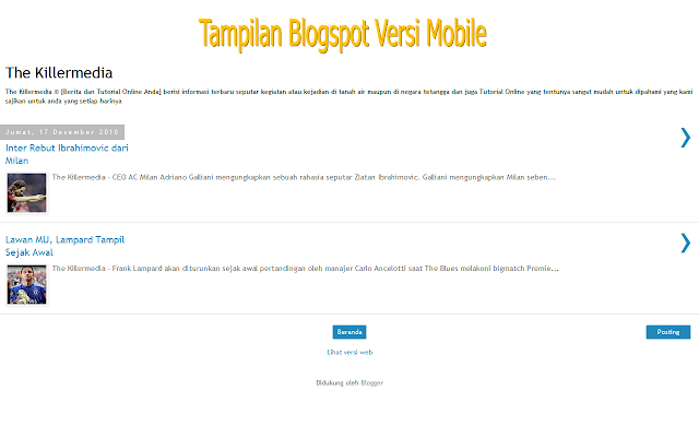 Blogspot Versi Mobile