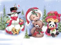 Christmas Holiday Desktop Scene