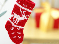 red christmas stocking wallpaper