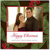 merry christmas couple wishing