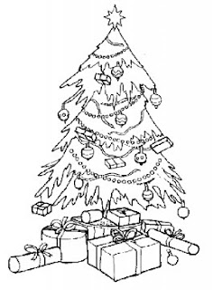 christmas tree and gifts coloring pages