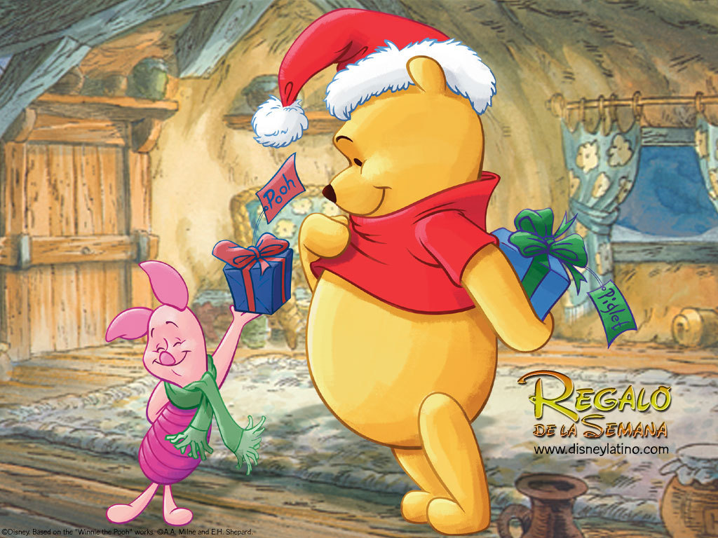 free and exclusive range of Winnie the Pooh Christmas Desktop Wallpaper