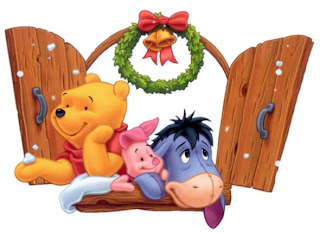 christmas pooh piglet eeyore wallpaper