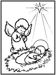 Christmas Jesus Coloring Sheet