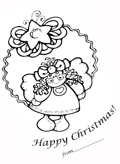 xmas fairy coloring sheet