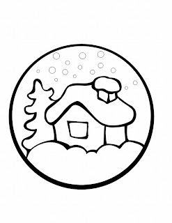 preschool xmas coloring sheet