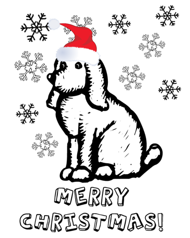 All these Christmas Puppy Coloring Pages gives beautiful printable design of