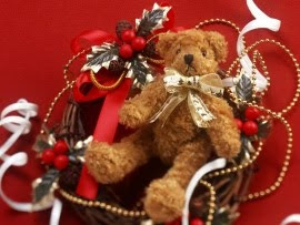 cute teddy xmas wallpaper