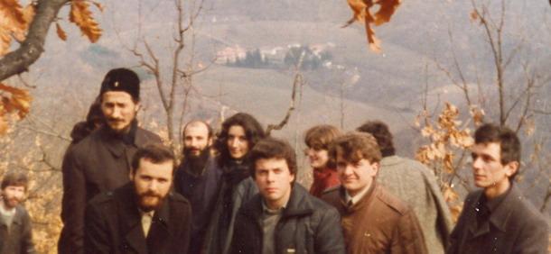 Με τον καθηγητή μας π.Αθανάσιο Γιέβτιτς 1984