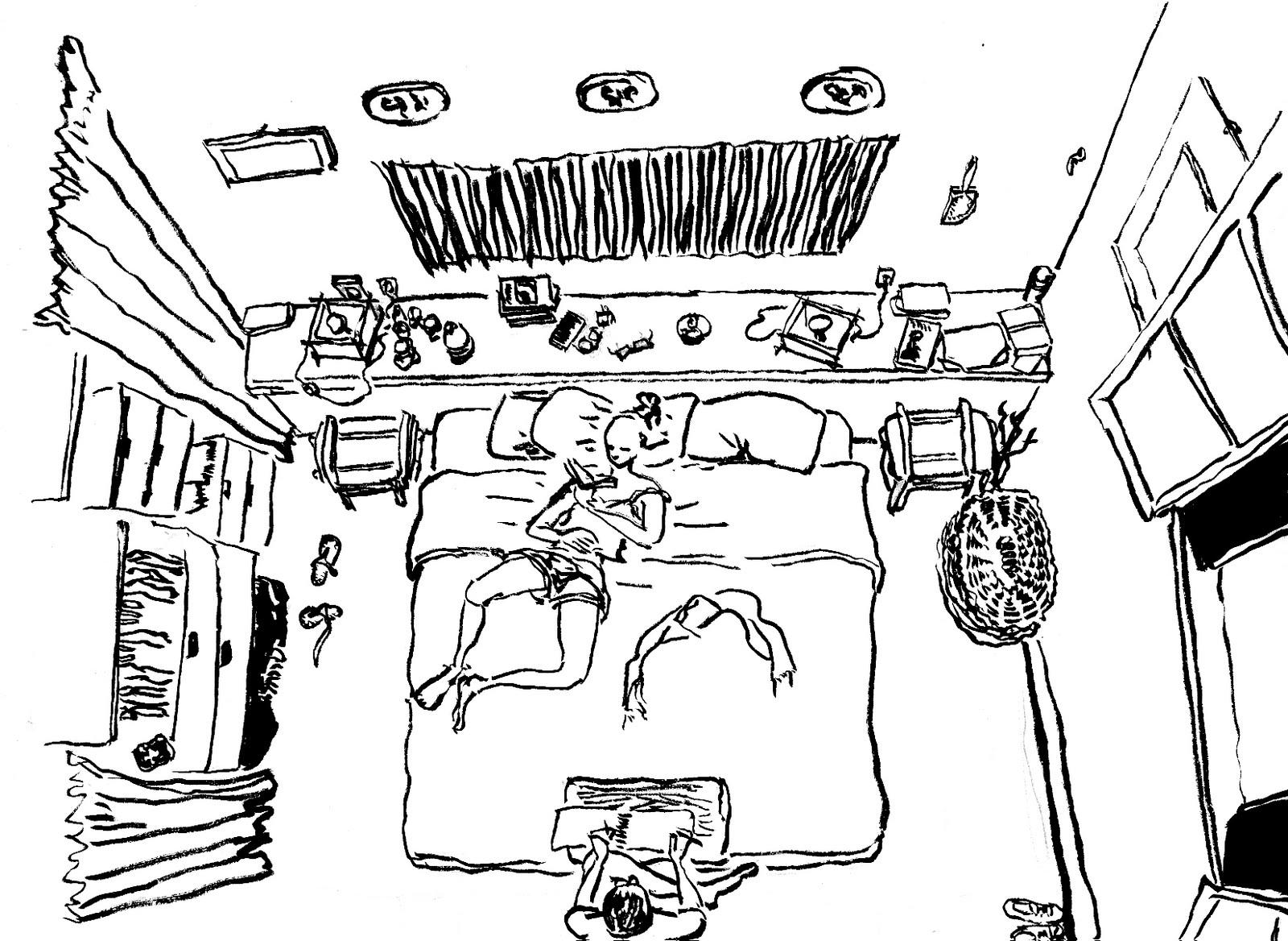 chambre vue de haut