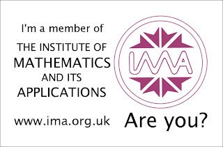 Sticker: I'm a member of the Institute of Mathematics and its Applications www.ima.org.uk - Are you?