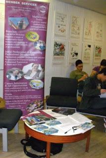 IMA stall at Oxford Maths Options Fair