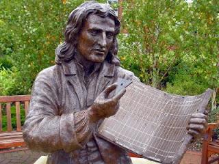 Isaac Newton sundial